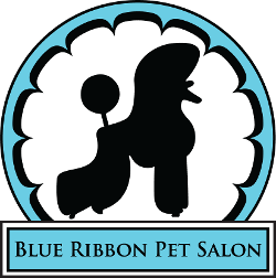 Blue Ribbon Pet Salon Logo
